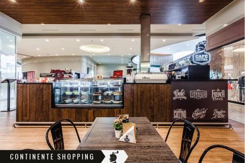 loja física café cultura continente shopping