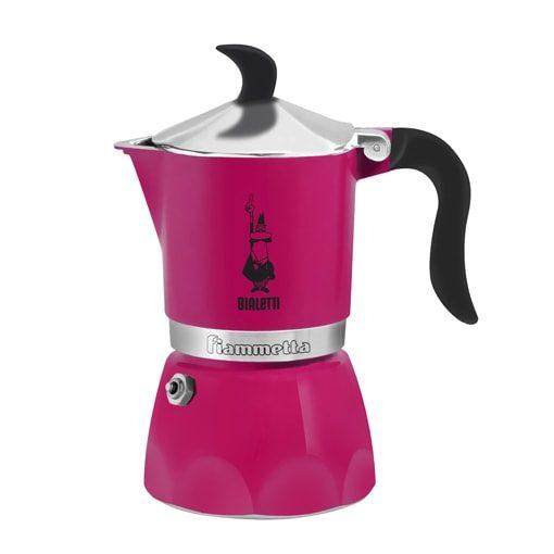 Cafeteira italiana fiammeta rosa bialetti