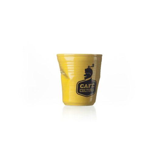 copo plastic café cultura amarelo