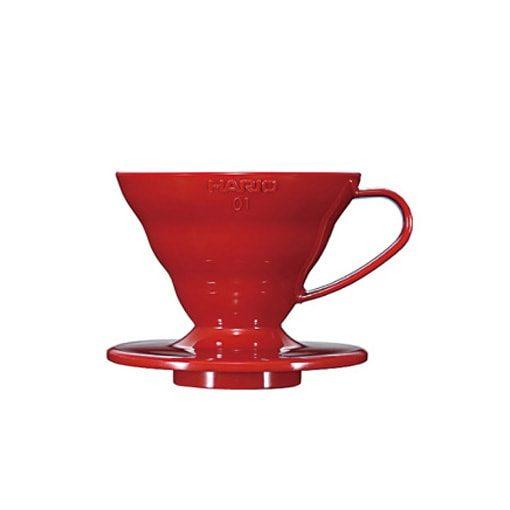 suporte para filtro de café hario v60-01 acrilico vermelho