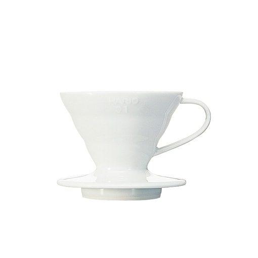 suporte para filtro de café hario v60-01 cerâmica branco