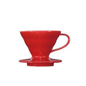 suporte para filtro de café hario v60-01 cerâmica vermelho