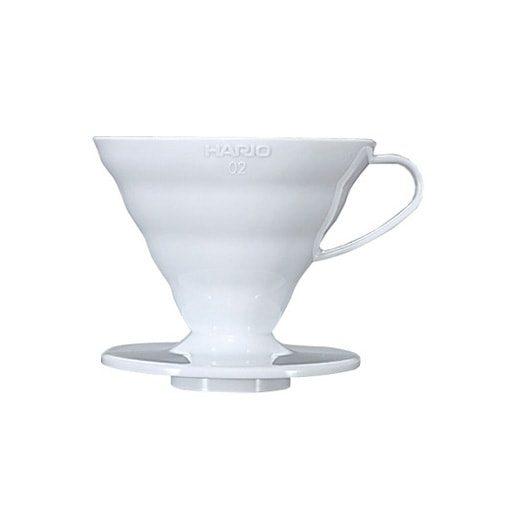suporte para filtro de café hario v60-02 acrilico branco
