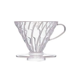 suporte para filtro de café hario v60-02 acrilico transparente