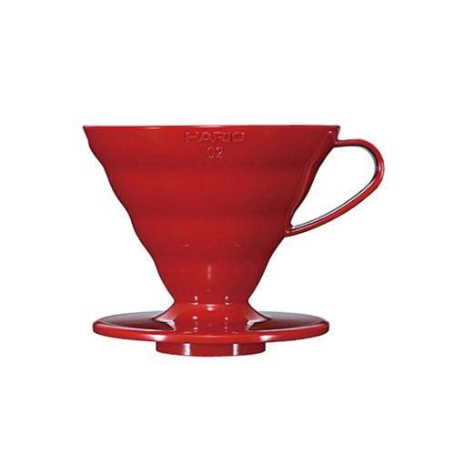 suporte para filtro de café hario v60-02 acrilico vermelho