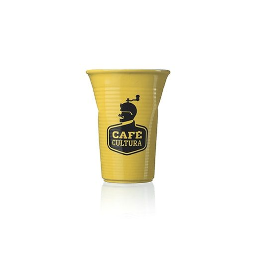 Copo Plastic 240ml Amarelo Café Cultura