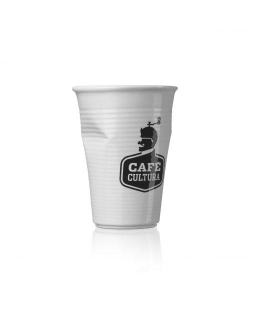 Copo Plastic 240ml Branco Café Cultura